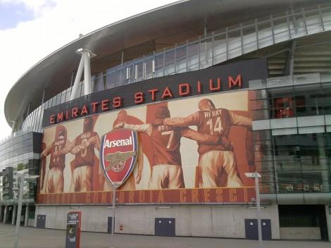Het nieuwe stadion van Arsenal
