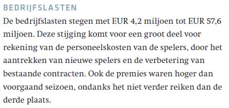 Citaat uit: Jaarverslag PSV