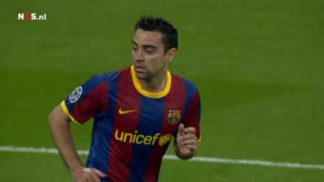 Xavi was als halfspeler opnieuw fantastisch