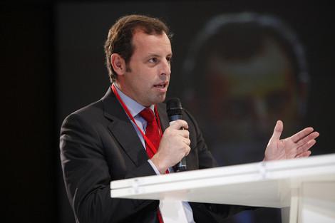 Sandro Rosell, de huidige voorzitter van FC Barcelona