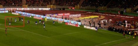 België creëert een 3 versus 2-situatie bij de tweede paal. Jan Vertonghen profiteert door raak te koppen.